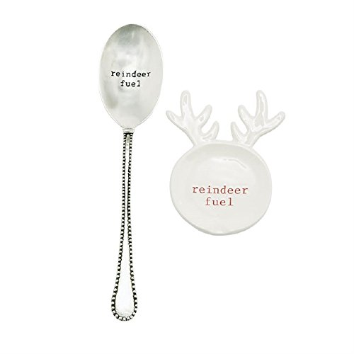 Reindeer Fuel Christmas Holiday Spoon Rest (Decorative Silverplate Spoon)