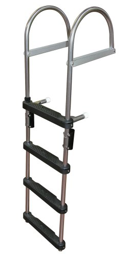 JIF Marine EPZ4 Transom Pontoon Ladder, (Pontoon Fold)