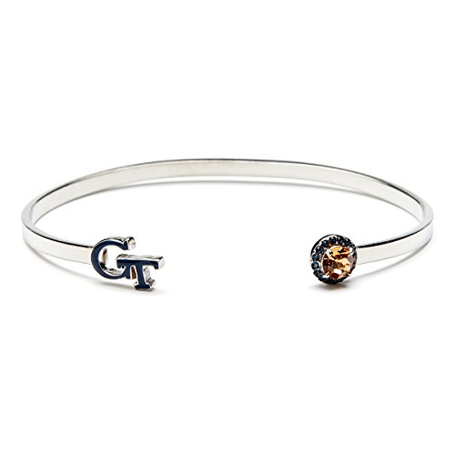 - Stone Armory Georgia Tech Bangle   Blue GT and Crystals   Georgia Tech Gift   Officially Licensed Georgia Tech Jewelry