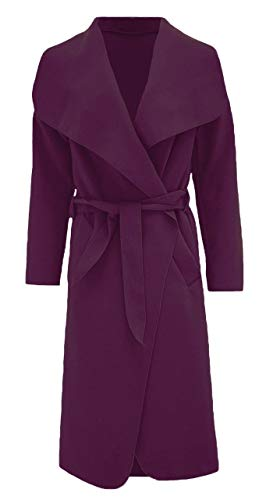 Italian Waterfall Women's George Long Coat Hilton Purple Duster Oversize qIpwpXa7