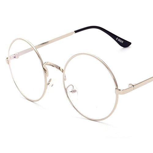 Aoligei Entourez le cadre plat miroir Full Metal retro-prince miroir lunettes hommes et femmes lunettes Frame D