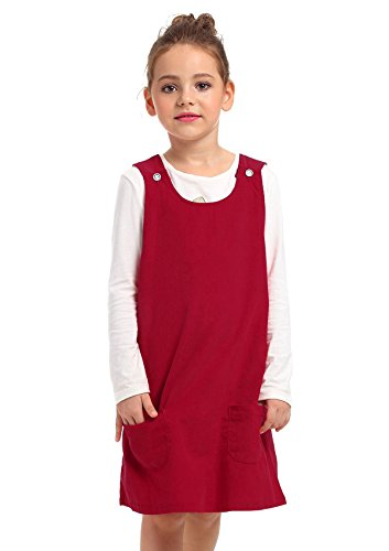 Corduroy Bib Pocket Overall (Ephex Kid Toddler Girls Corduroy Cotton Pinafore Overall Jumper Dress with Pockets)