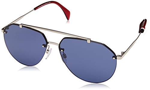 Tommy Hilfiger Unisex-Adult TH1598S Aviator Sunglasses, Palladium, 60 mm (Tommy Hilfiger Sunglasses For Men In India)