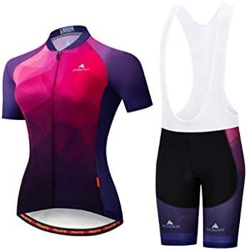 サイクリングジャージー半袖女性自転車服ロード自転車シャツショーツパッド入りパンツアウトドアスポーツウェア