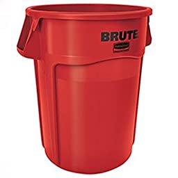 Rubbermaid Commercial BRUTE Trash Can, 44 Gallon, Red, FG264360RED