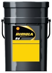 SHELL RIMULA R6 LM 10W-40 LOW EMISSIONS SYNTHETIC HEAVY DUTY DIESEL ENGINE OIL 20LTR 550014315