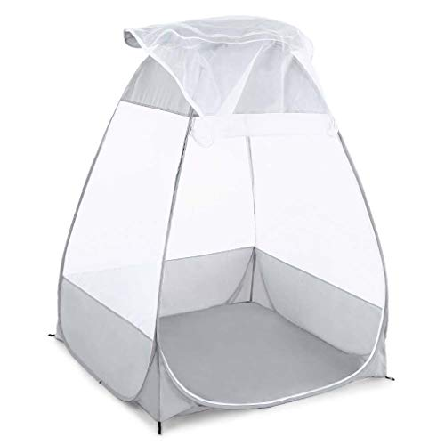 Makangm Outdoor Mosquito Net Meditation Camping Tent Single Sitting Separate Outdoor Protective Hut Quick Folding Camping Tent Yoga Supply