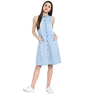 StyleStone Denim a-line Dress