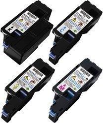 SuppliesOutlet Dell 1250 Compatible Toner Cartridge Value Bundle - (C, M, Y, K) - [4 Pack] For Color Laser 1250C, Color Laser 1350CNW
