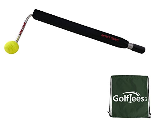 Impact Snap Golf Impact Snap Swing Trainer with Golf Tees Etc Drawstring Carry/Shoe/Kit Bag (Right) ()