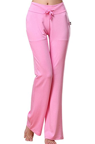 BOZEVON Damen Yogahosen mit hoher Taille mit ausgestelltem Bein, Sporthose, Übergröße Pilates Hosen