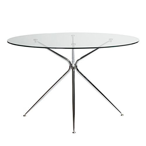48'' Round Glass Meeting Table w/Chrome Base by eS (Image #3)