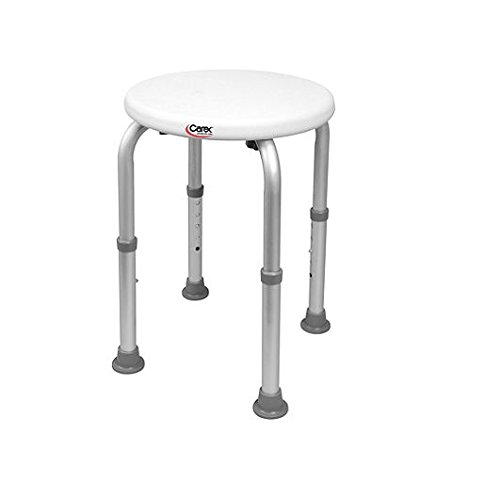 Compact Round Shower Stool Single