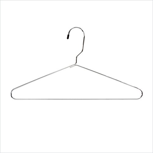Safco Products 4246CR Metal Heavy-Duty Hangers, (Qty. 100), Chrome