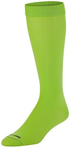 (TCK Sports Krazisox Neon Over the Calf Socks, Neon Green,)