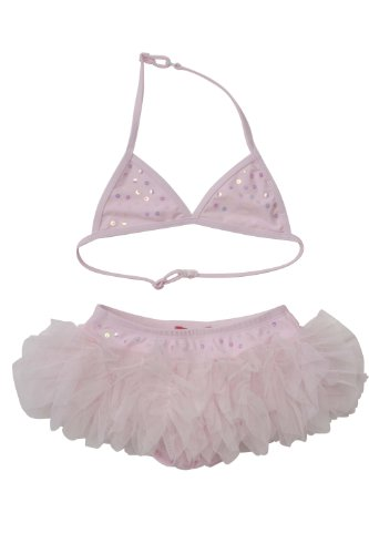 Kate Mack Girl's 2-6X Bows De Ballet 2 Piece Skirted Swimsuit in Pink - Size 5