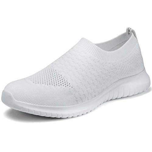 tweight Walking Shoes - Casual Breathable Mesh Slip On Sneakers 6.5 M US White ()