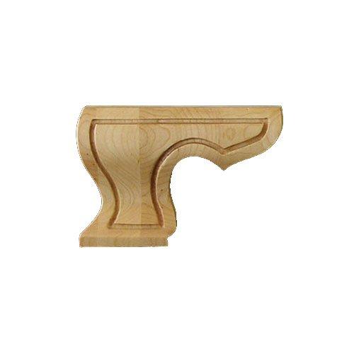 Designs of Distinction 01703710AL1 Corinthian Carved Hampton BUN FOOT Alder - Fluted Corinthian Base