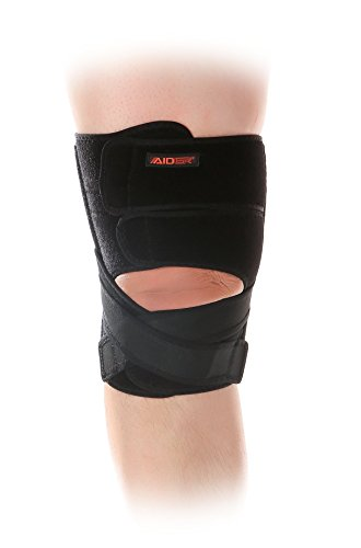 Aider Knee Brace Type 4 - for Anterior Cruciate Ligament Injury (ACL), Adjustable Compression Brace, Breathable Neoprene, Unique Anti-Slip and Comfort Design (Left)