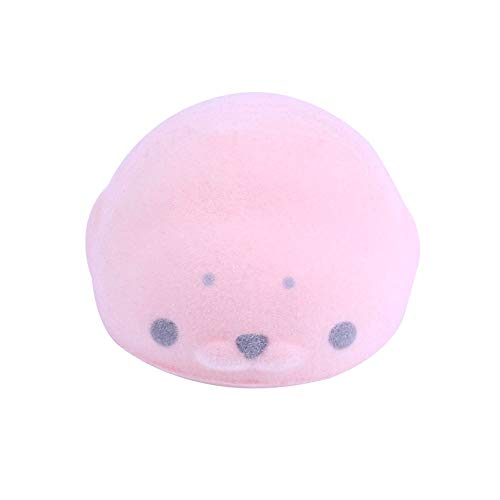 Sagton Squishy Toy,Kawaii Flocking Seal Soft Mini Slow Rising Scented Kids Adult Stress Relief Toy (Pink)