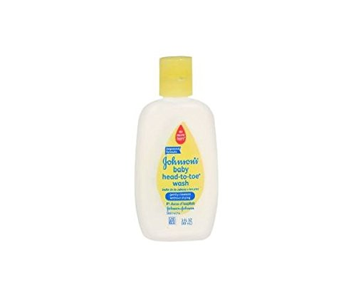 Johnson's Baby Head-to-Toe Wash, Trial Size 3 oz (88 ml)(pack of 3)