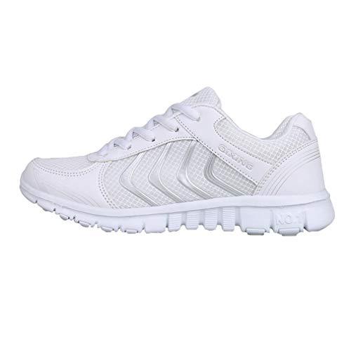 B All'aperto Ginnastica Scarpe Scarpe Gym Donna Sneakers Maglia Bianco Fitness Running Sportive da Unisex Traspirante Coppia Casual Uomo da Scarpe Moda SawaqRxg