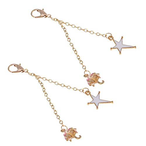 - NATFUR 2X Enamel Charms Keyring Keychain Loster Charm Tassel DIY Bag Purse Pendant Pretty Cute Perfect for Girls Pretty Novelty Great Fine Lovely Beauteous Goodly