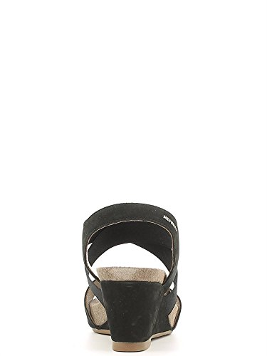 Mephisto Womens Barbara Elasticated Sandals negro - negro