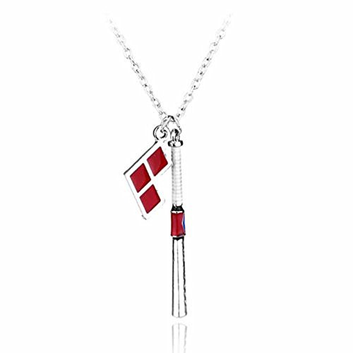 Panwa Jewelry Dc Comics Harley Quinn Shield Jewelry Pendant Necklace Alloy Chain Movie