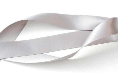 Double Face Satin Ribbon SILVER GRAY 100% Polyester 5/8 inch x 5 yards