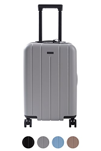 Carry On Luggage Lightweight Suitcase Spinner (Grey)