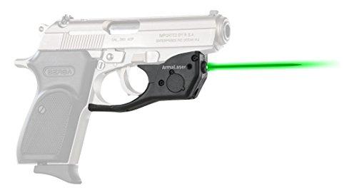 Bersa Firestorm 380 - ArmaLaser Bersa Thunder 380 TR16G Super-Bright Green Laser Sight with Grip Activation