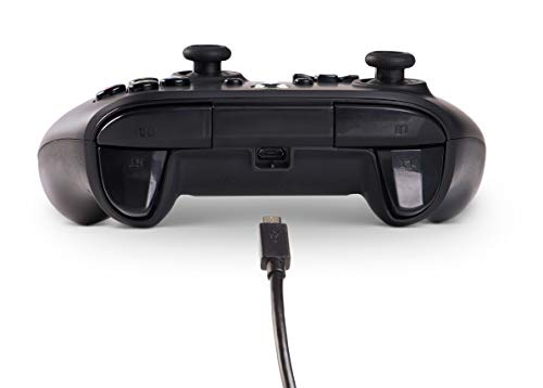 PowerA Wired Officially Licensed Controller for Xbox One, Xbox One S, Xbox One X & Windows 10 - Black