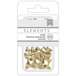 Bulk Buy: American Crafts  Elements Brads .1875in. 50/Pkg Go