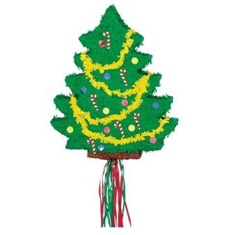 Party America Christmas Tree Flat 21 1/2in x 18in Pull String Pinata