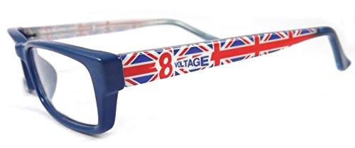 ES185 Plastic Rectangular Oval Eye Glasses Full Frame (Blue, - Frames Eyeglass Discounted