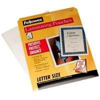 "Fellowes 52005 Laminating Sheet 8.5""x11"", Clear"