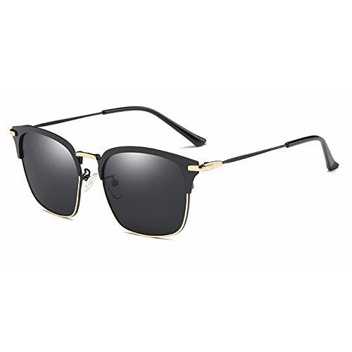 de black UV400 polarizadas Gafas Negro Gafas Retro de de Classic Hombres Sol Plata Gafas Sunglasses TL Guía Sol gray de Sol FHqw1EF