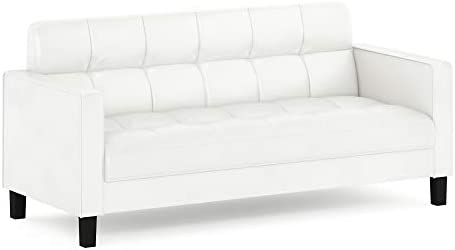 FURINNO Brive Contemporary Tufted 3 Seater Sofa