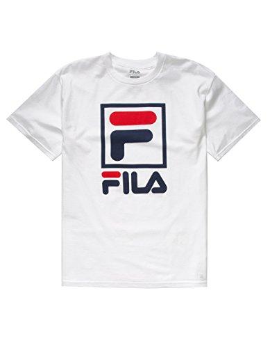 - Fila Men's Stacked Tee Shirt, White, Small
