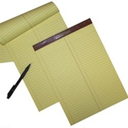 Litigation Ruled Canary Letter Size Legal Pads, 12 pads per package