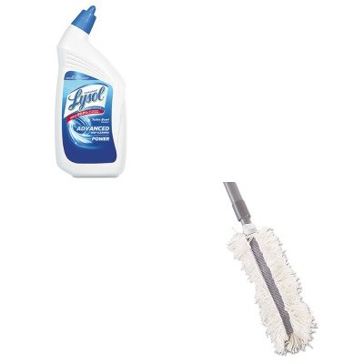 KITRAC74278CTRCPT130 - Value Kit - Rubbermaid-Gray Hiduster Antimicrobial Overhead Duster (RCPT130) and Professional LYSOL Brand Disinfectant Toilet Bowl Cleaner (RAC74278CT)