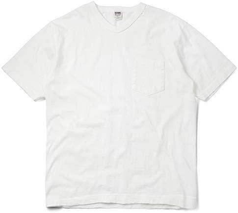 バーンズ アウトフィッターズ BR-11001 TSURI-AMI(吊り編み)半袖 VネックTシャツ 日本製【メール便 ネコポス便】