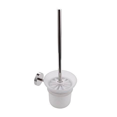 KES Bathroom Toilet Brush with SUS 304 Stainless Steel Holder Wall Mount, Polished Finish, ()