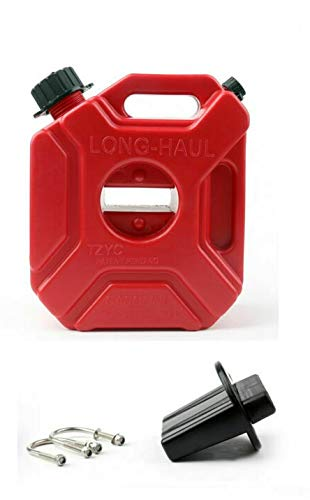 Narubb Jerrycan van 5 liter, met montageset, ATV, quad, terreinwagen, auto, benzine, motorfiets, SUV, 5 liter