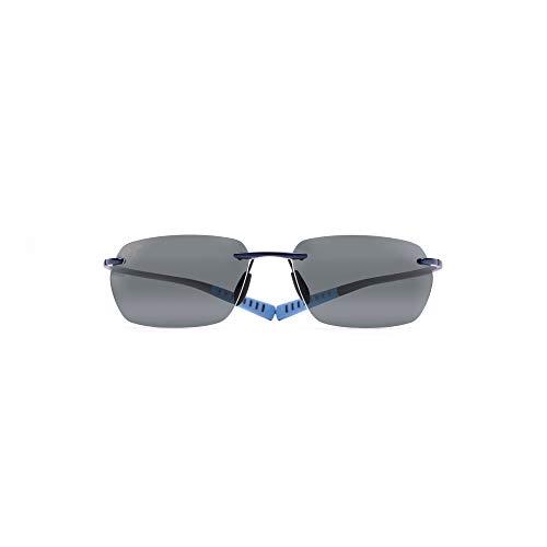 Maui Jim Alaka'i 743-06 | Polarized Blue Rimless Frame Sunglasses, Nuetral Grey Lenses, with Patented PolarizedPlus2 Lens ()