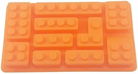 Jollylife Silicone Make Lego Brick Candy Chocolate Birthday Party Favor Jello Soap Crayon Mold Pan 1pc