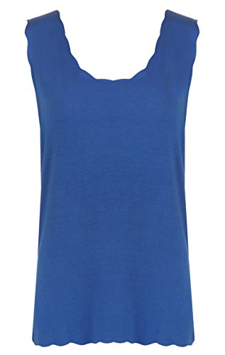 Black Navy One Top 21fashion Tank Size Blue Women Sleeveless Solid 5XWq8qwY