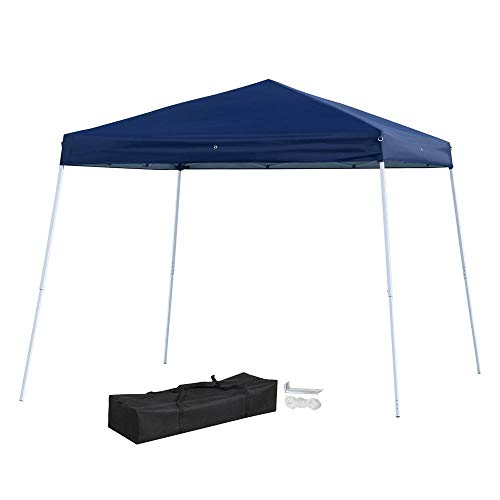 Yaheetech 10x10 Pop Up Canopy Tent Beach Sun Shade Easy Up Instant Shelter with Carrying Bag Blue