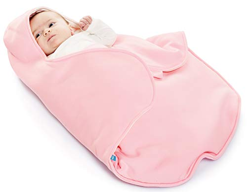 Wallaboo Baby Blanket Coco,Supersoft 100% Pure Cotton, Multi-Use for Pram or Car Seat and Travel, Newborn upto 10 months, Size: 35 x 28 inch, Color:Pink -  Wallaboo BV, BBC.0214.4603